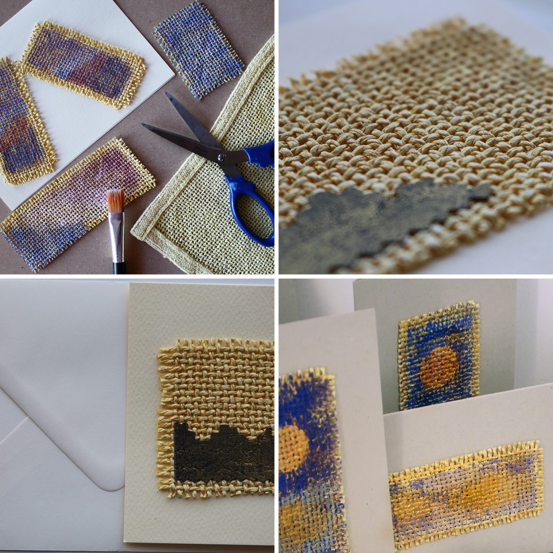 Recycled New Year greeting cards